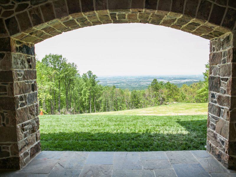 Stone Pillar Arch : Entrance walls and columns loudoun county kelley s masonry