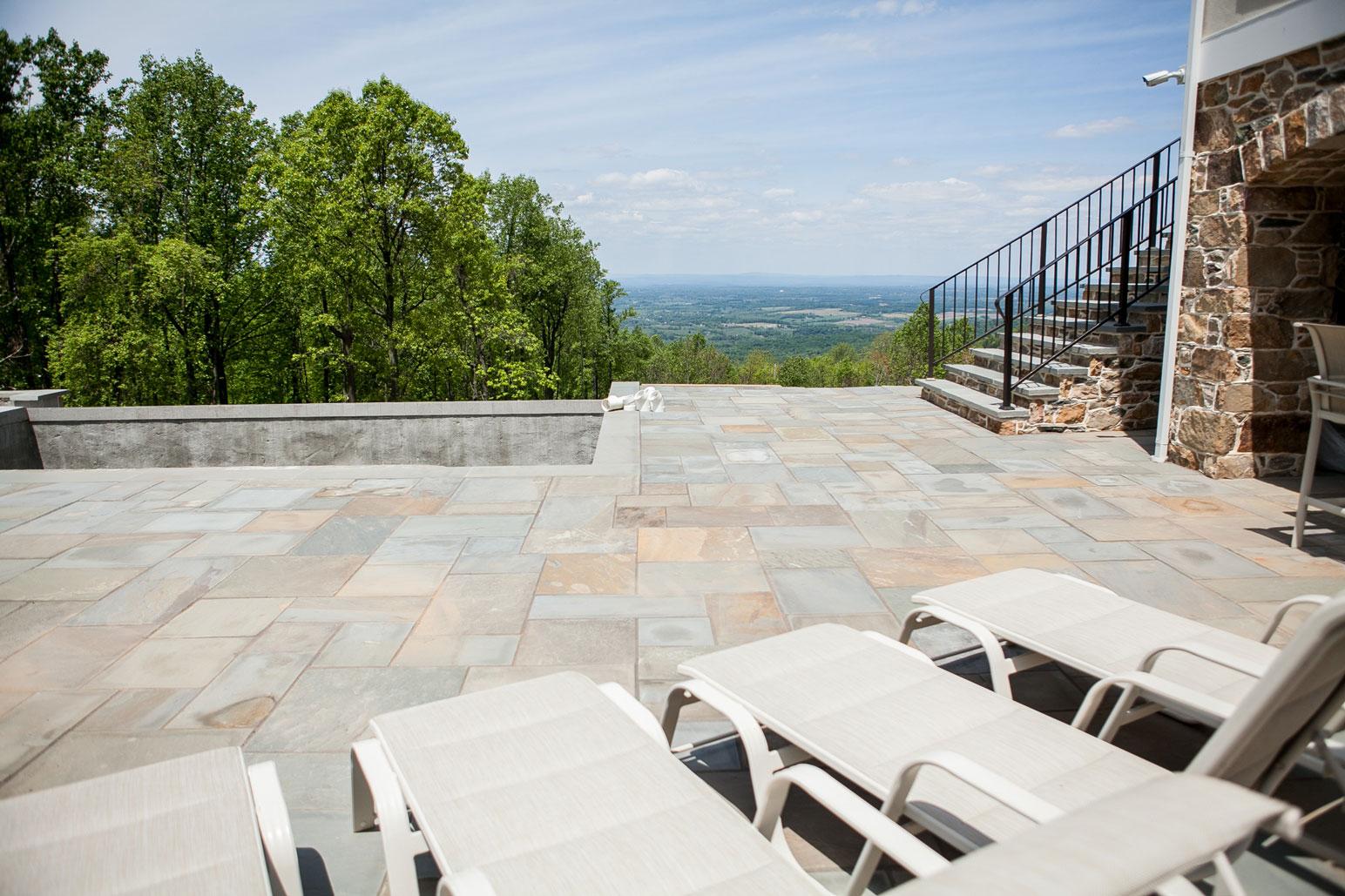 Flagstone Patio & Stone Steps - Kelley's Masonry