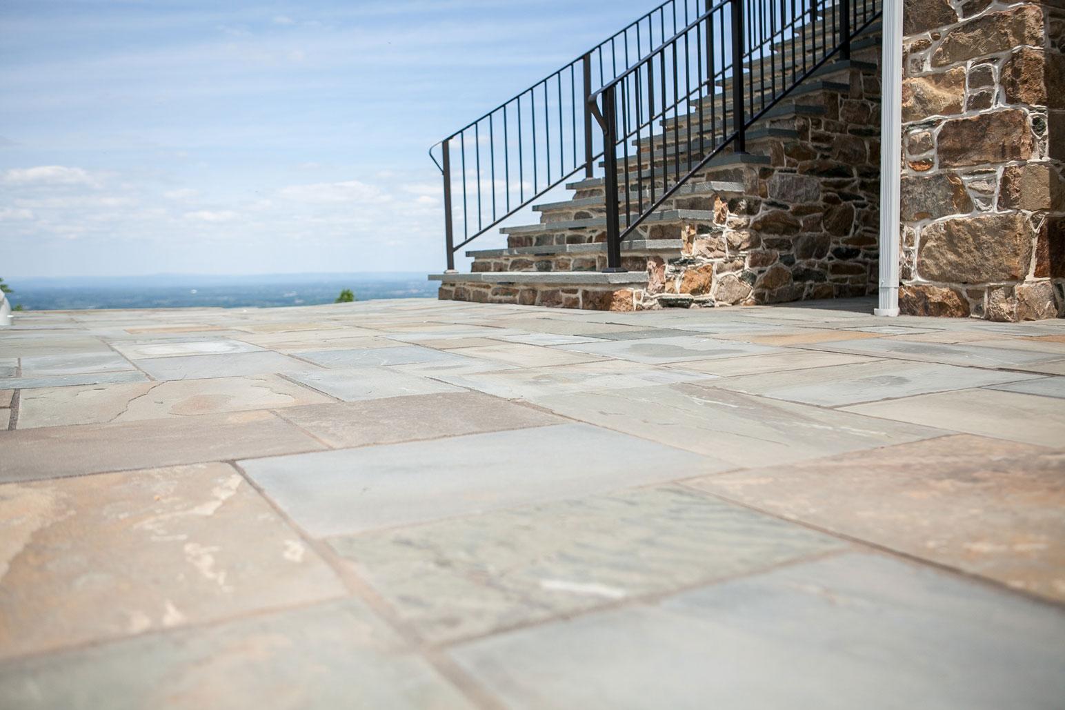 Flagstone Patio U0026 Stone Steps