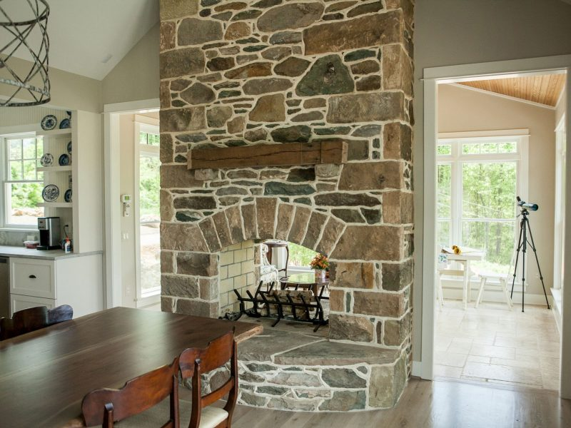Stone Veneer Fireplace - Kelley's Masonry