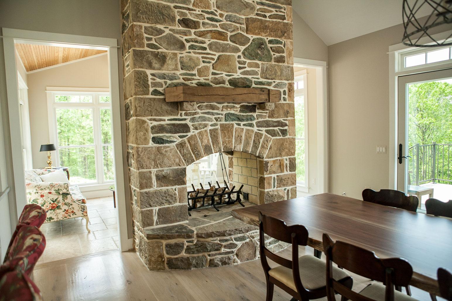 Masonry fireplaces loudoun county kelley 39 s masonry for Through fireplace