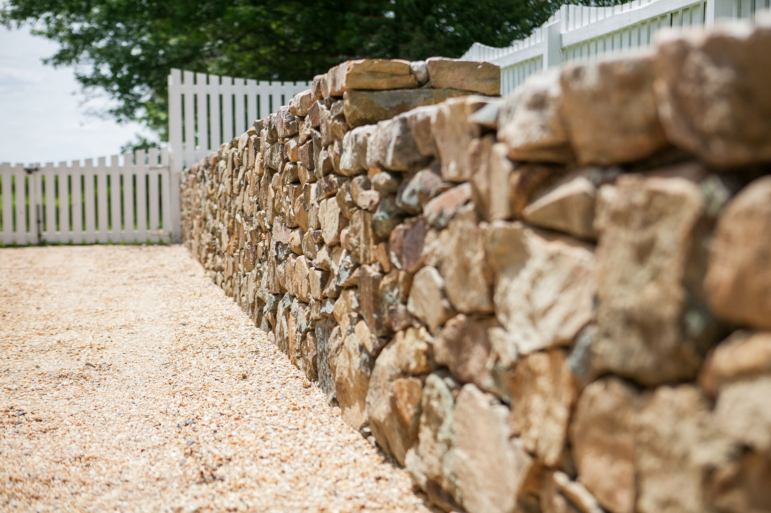Traditional Fieldstone Retaining Walls - Kelley's Masonry