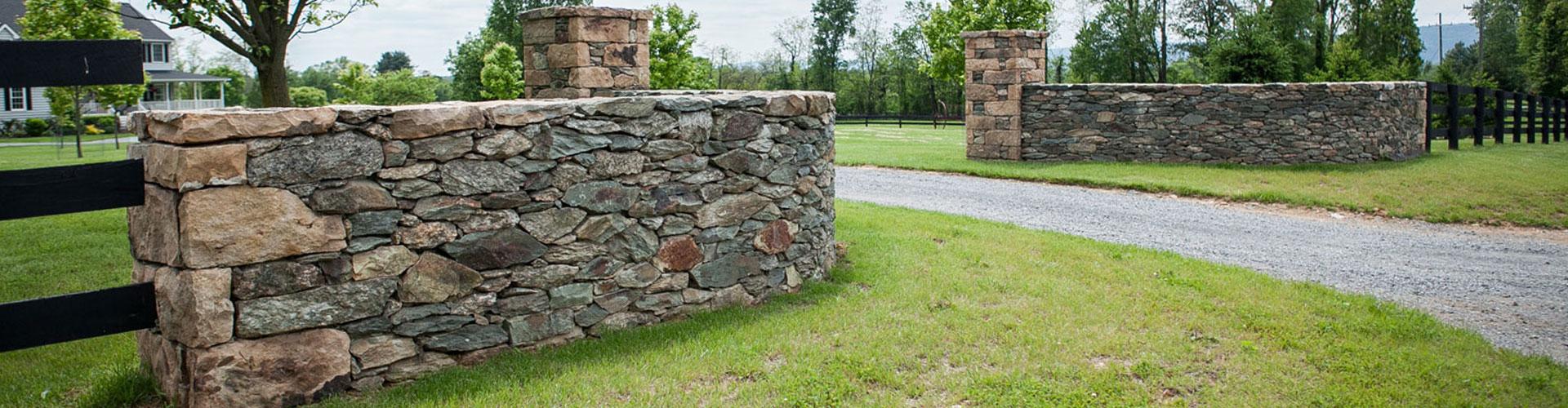 Entrance Walls and Columns | Loudoun County