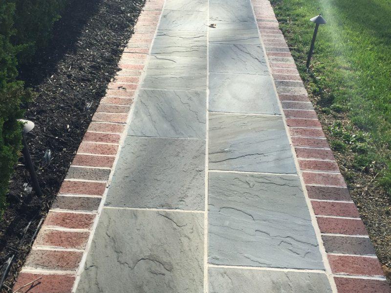 Flagstone & Brick Walkway - Kelley's Masonry