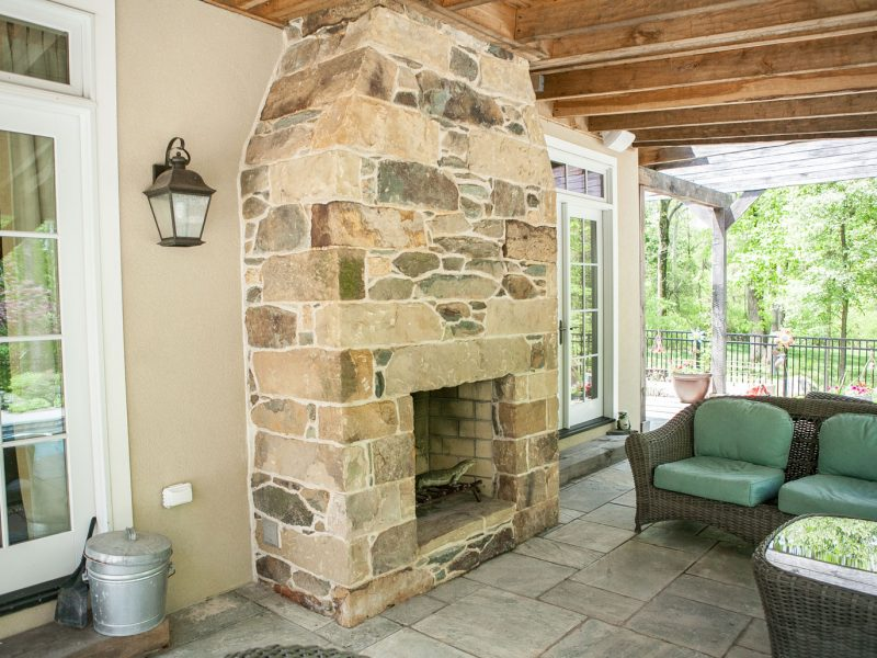 Traditional Stone Fireplace - Kelley's Masonry