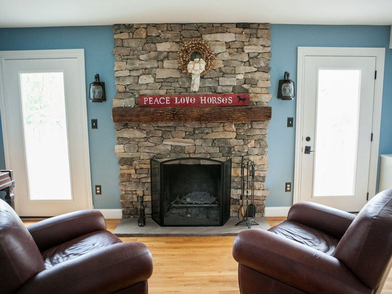 Stone Fireplace - Kelley's Masonry