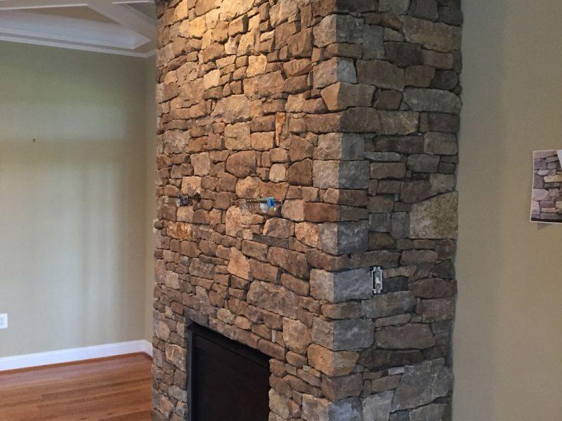Stone- Veneer Fireplace - Kelley's Masonry